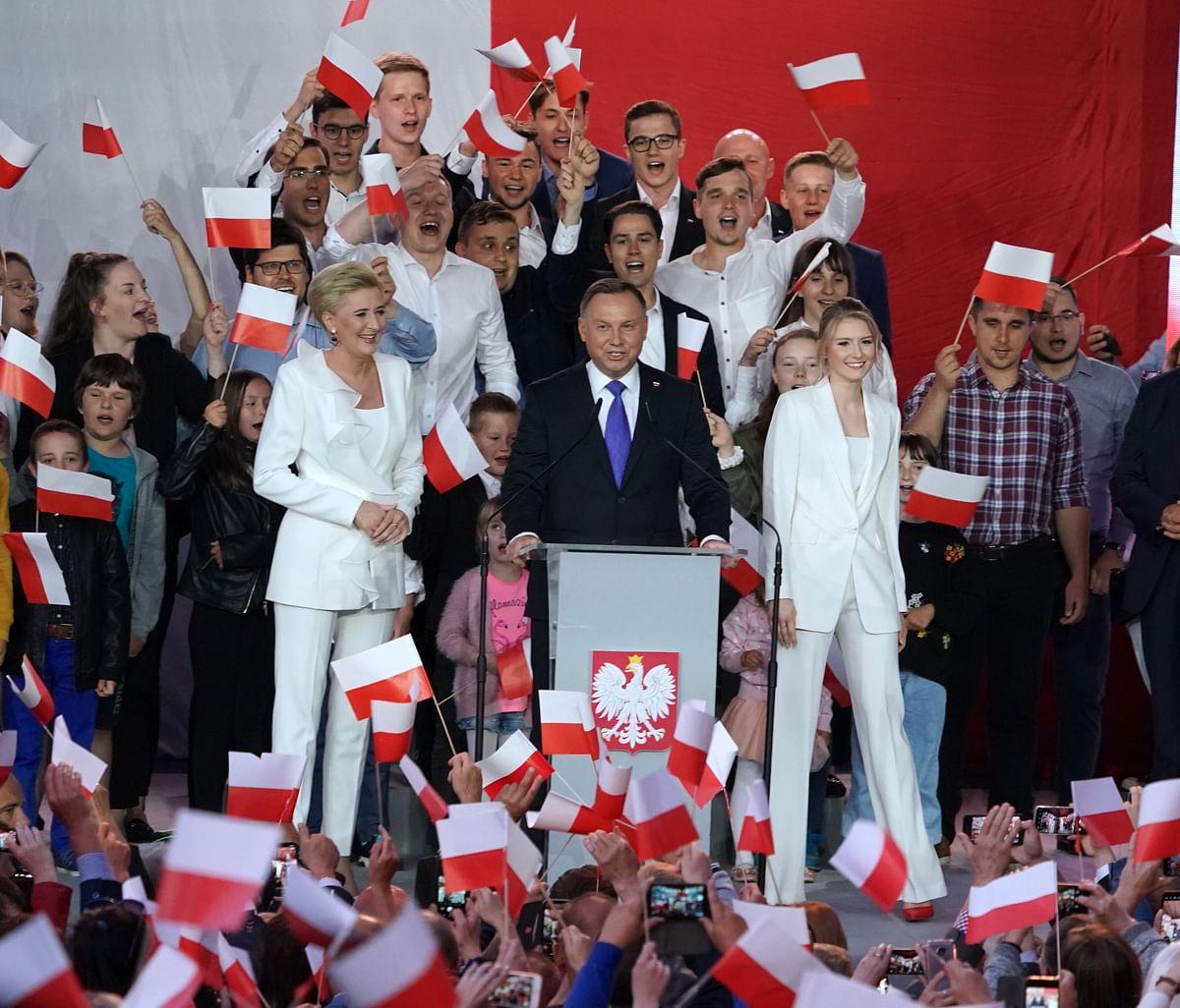 Polish President wins second term