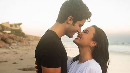 Demi Lovato gets engaged to Max Ehrich; shows off her engagement ring