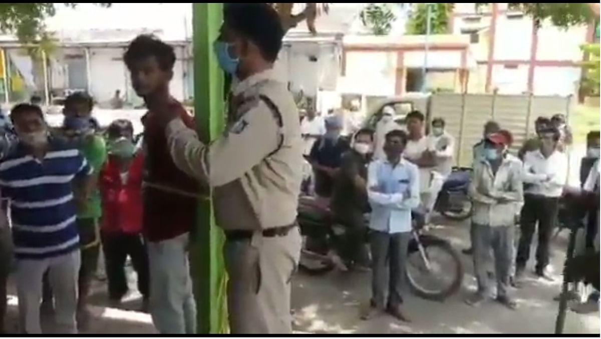 Madhya Pradesh: Man beaten, tied to pole for allegedly stealing grain in Khargone