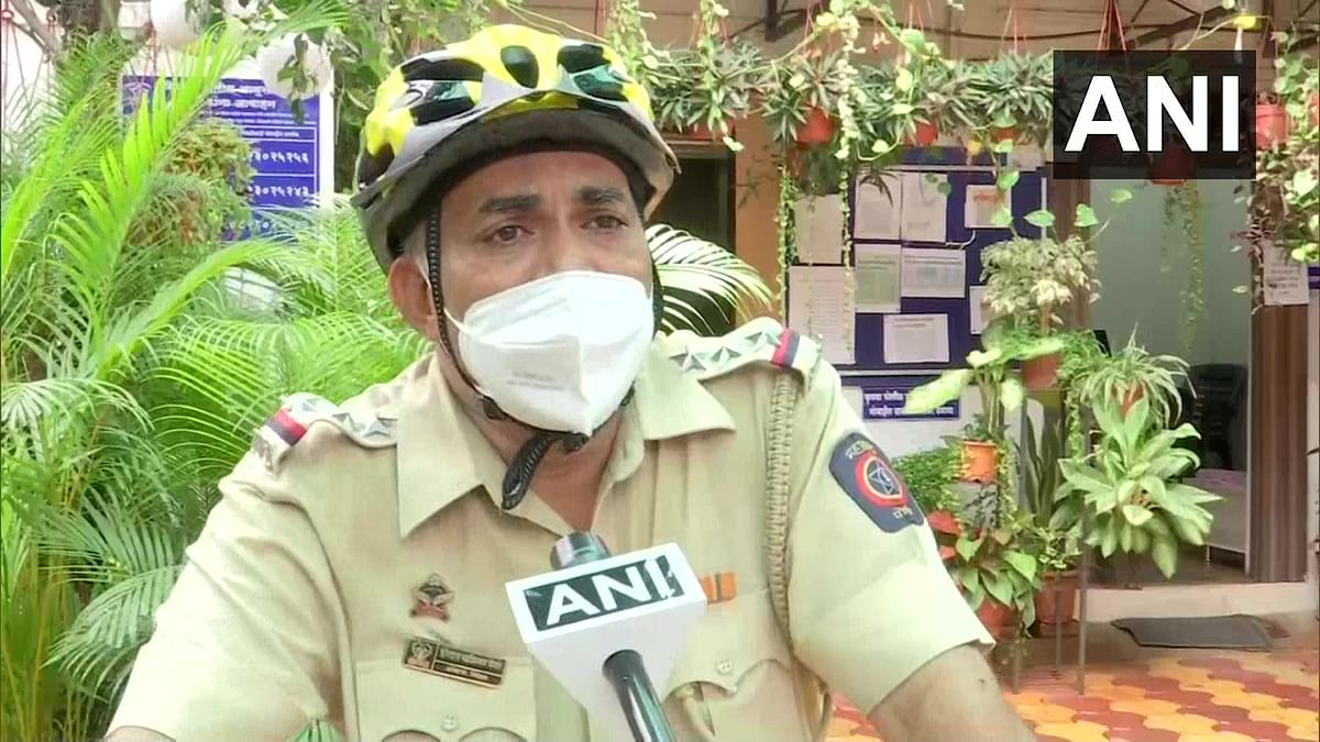 Coronavirus in Pune:  Cop cycles across jurisdiction to spread COVID-19 awareness, stay fit