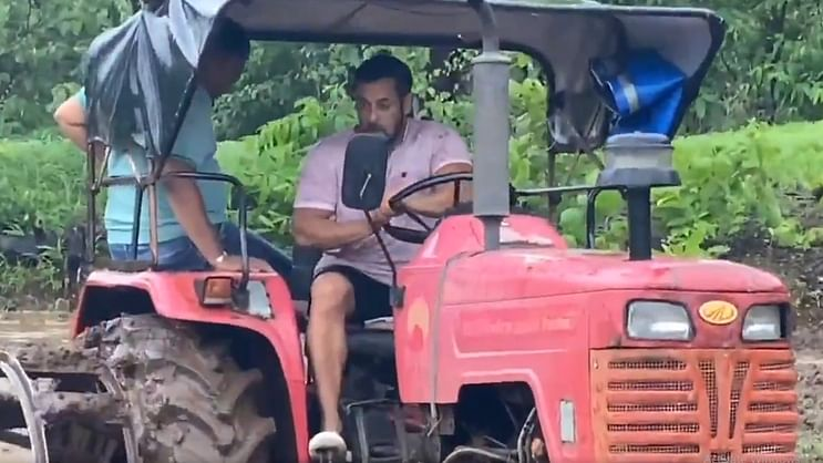 'Which farmer rides tractor over wet field': Twitter divided over Salman Khan's 'farming' video