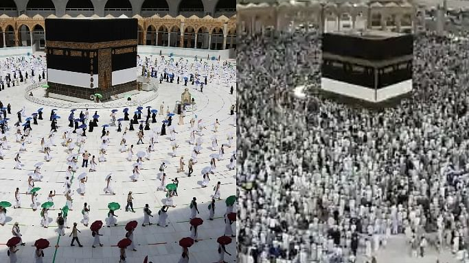 2019 vs 2020: Eerie pics of how COVID-19 has affected the annual Hajj pilgrimage performed by Muslims