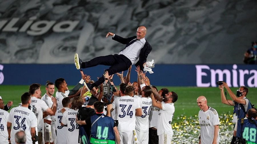 'Tactical and tantalizing': Netizens react as Zinedine Zidane's Real Madrid lift 34th La Liga trophy