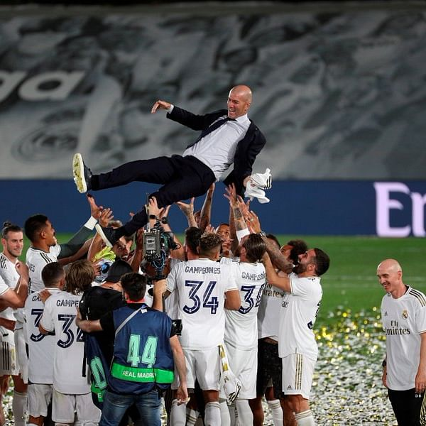 Zinedine Zidane feels more 'lucky' than special after leading Real Madrid to La Liga title