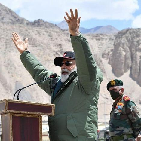 Watch: PM Modi evokes Lord Krishna at Nimu to explain war and peace