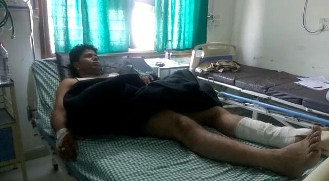 Injured Cop Dharmendra Yadav