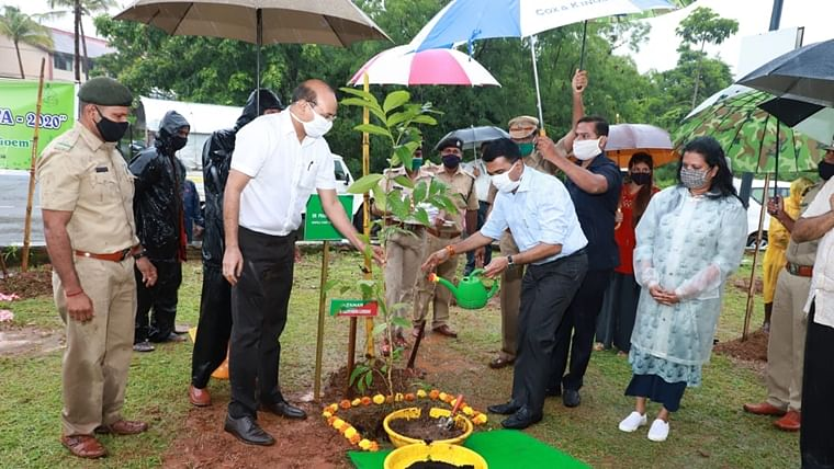 Goa CM Dr Pramod Sawant panned on Twitter for watering plants on a rainy day