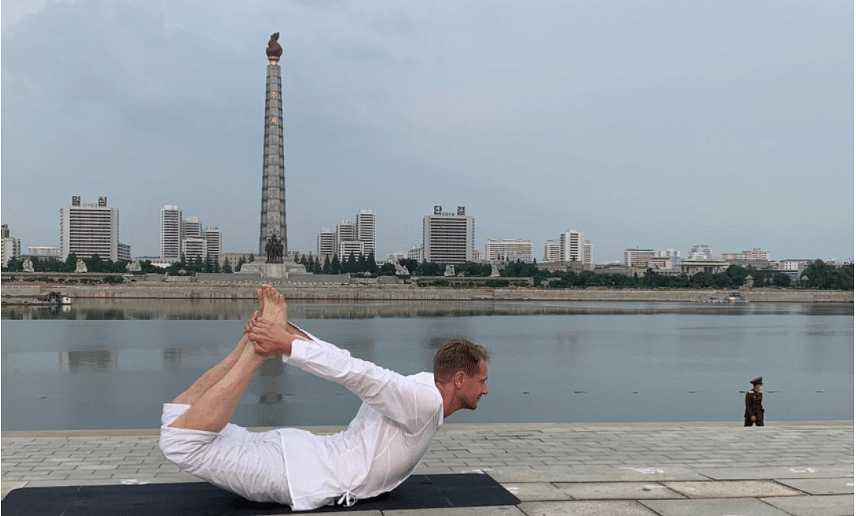 Meet Joachim Bergstrom, the Swedish ambassador to North Korea, whose love for yoga will make Baba Ramdev smile