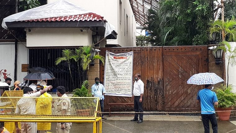 In Pics: BMC puts banners outside Amitabh Bachchan's house declaring it as a containment zone