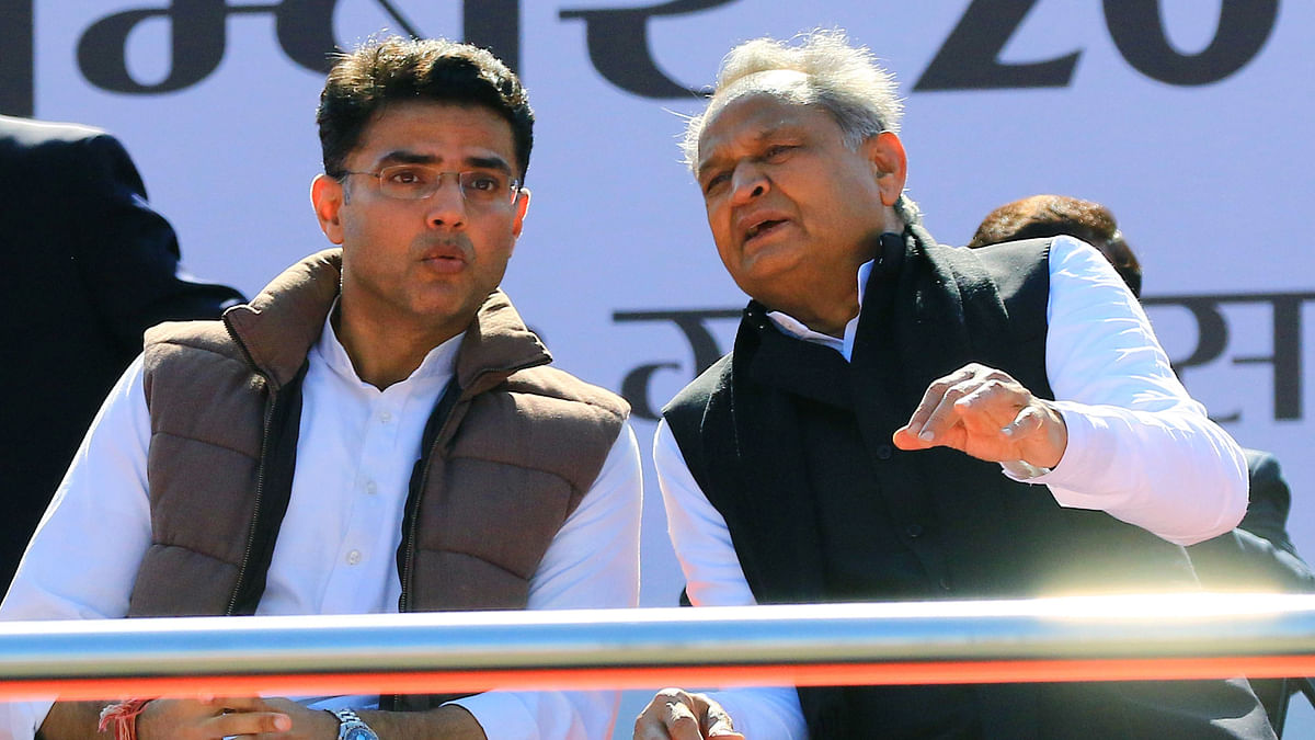 File photo of Sachin Pilot with Rajasthan CM Ashok Gehlot during a protest rally against the Citizenship Amendment Act and NRC in Jaipur.