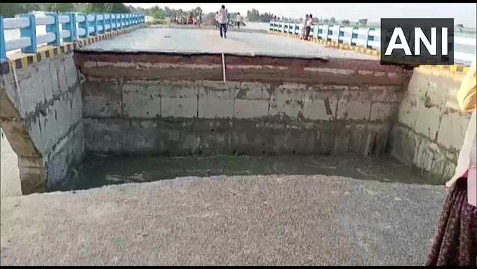 Bridge In Troubled Waters: 29 days after Nitish inaugurated it, bridge collapses into river