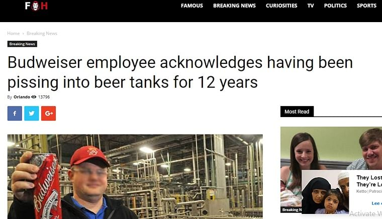 Fact Check: Did Budweiser employee urinate in beer tank for 12 years?