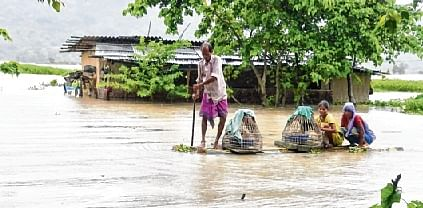 Assam flood toll at 71, over 40 lakh affected; rains in Rajasthan