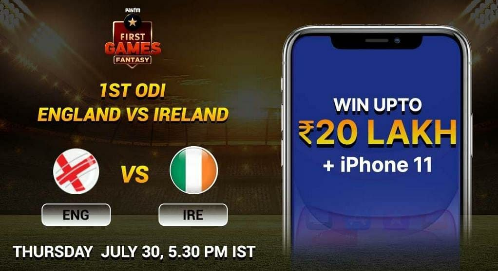 England vs Ireland: Paytm First Games Fantasy Prediction: 1 st ODI