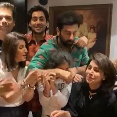 In Pics: Neetu Kapoor celebrates 62nd birthday with Ranbir Kapoor, Karan Johar and others