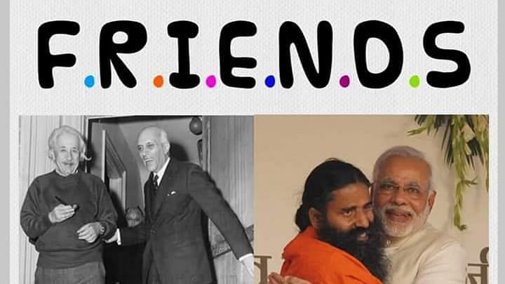 Prashant Bhushan shares photo of Nehru with Einstein; takes dig at Modi for hugging Baba Ramdev