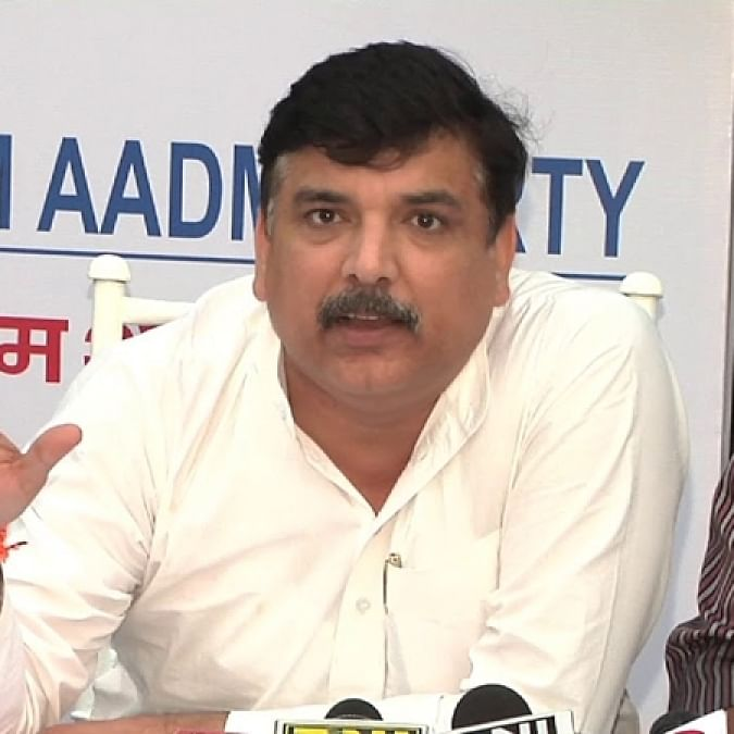 FIRs against AAP's Sanjay Singh for calling UP govt 'Pro-Thakur', AAP office 'locked'