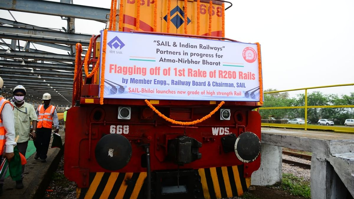 SAIL rolls out R 260-grade rails for Indian Railways from Bhilai steel plant