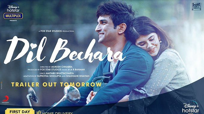 Trailer of Sushant Singh Rajput's 'Dil Bechara' to be out tomorrow, Sanjana Sanghi asks fans to stay tuned