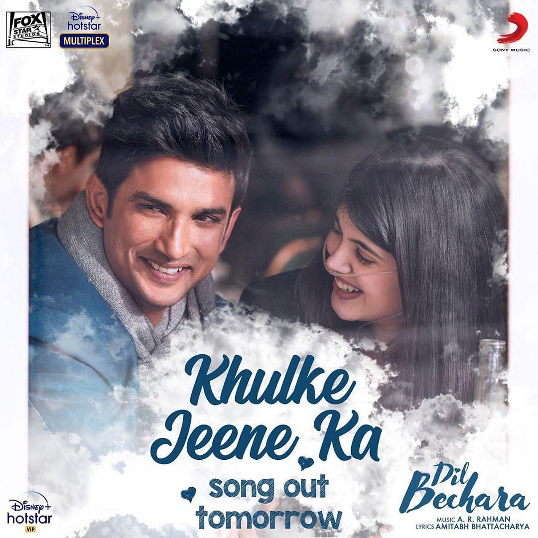 Watch: Sushant Singh Rajput, Sanjana Sanghi live life to fullest in 'Dil Bechara's new track 'Khulke Jeene Ka'
