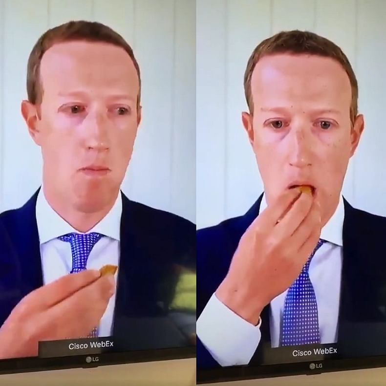 Watch: Mark 'Robot' Zuckerberg eating grapes during his anti-trust trial leaves the internet in splits