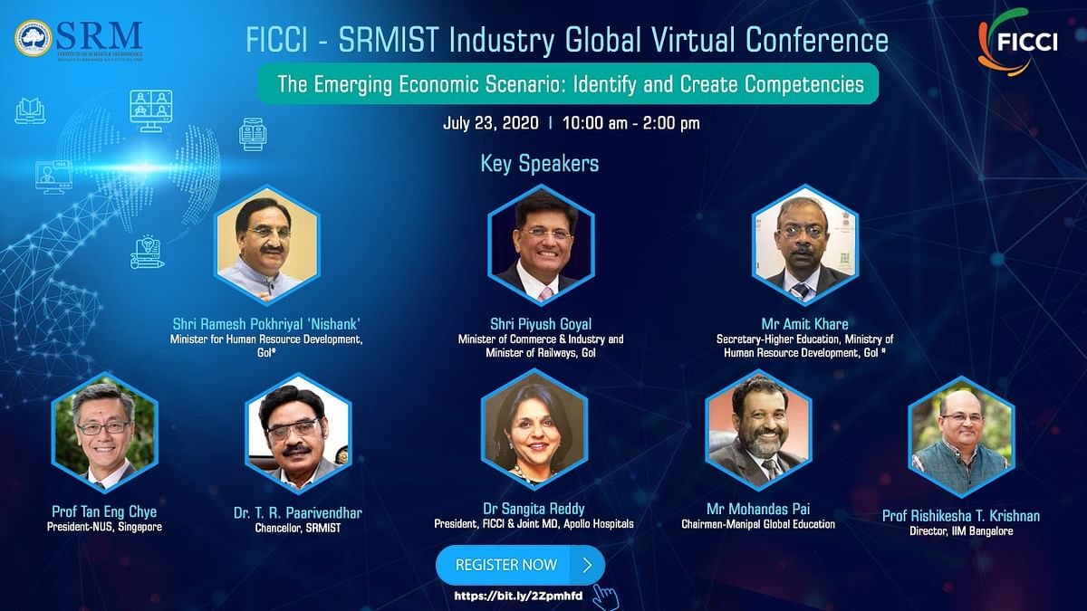 Two Union Ministers to address SRM-FICCI Industry-Academia conference