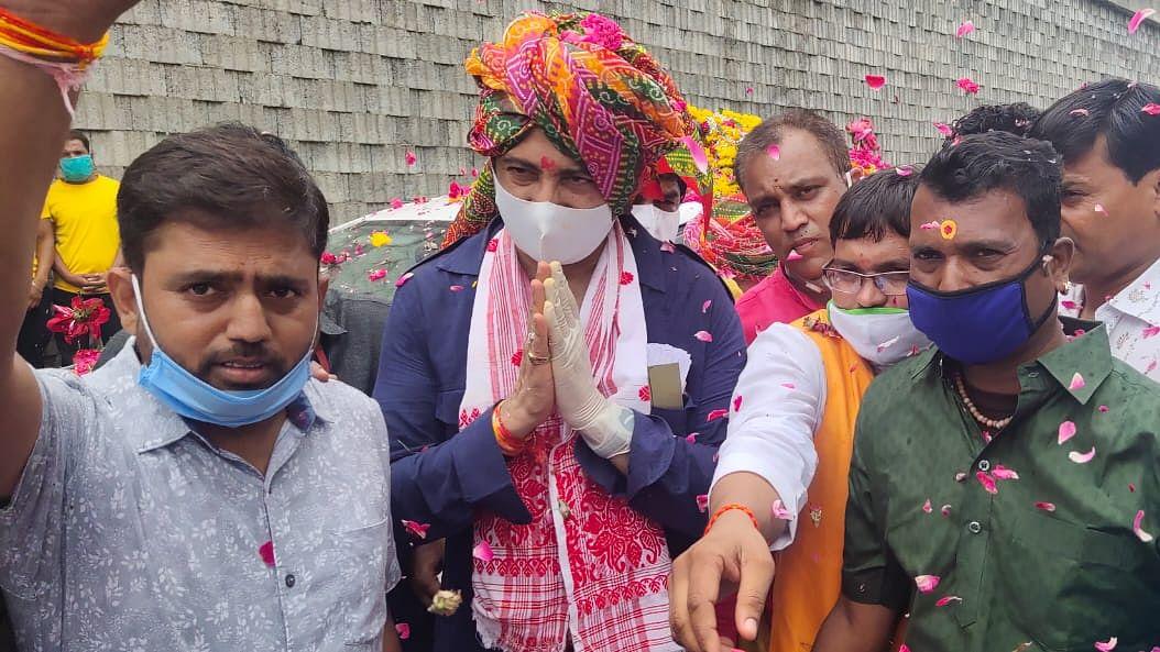Madhya Pradesh: Minister Rajwardhan Singh starts campaigning for by-election
