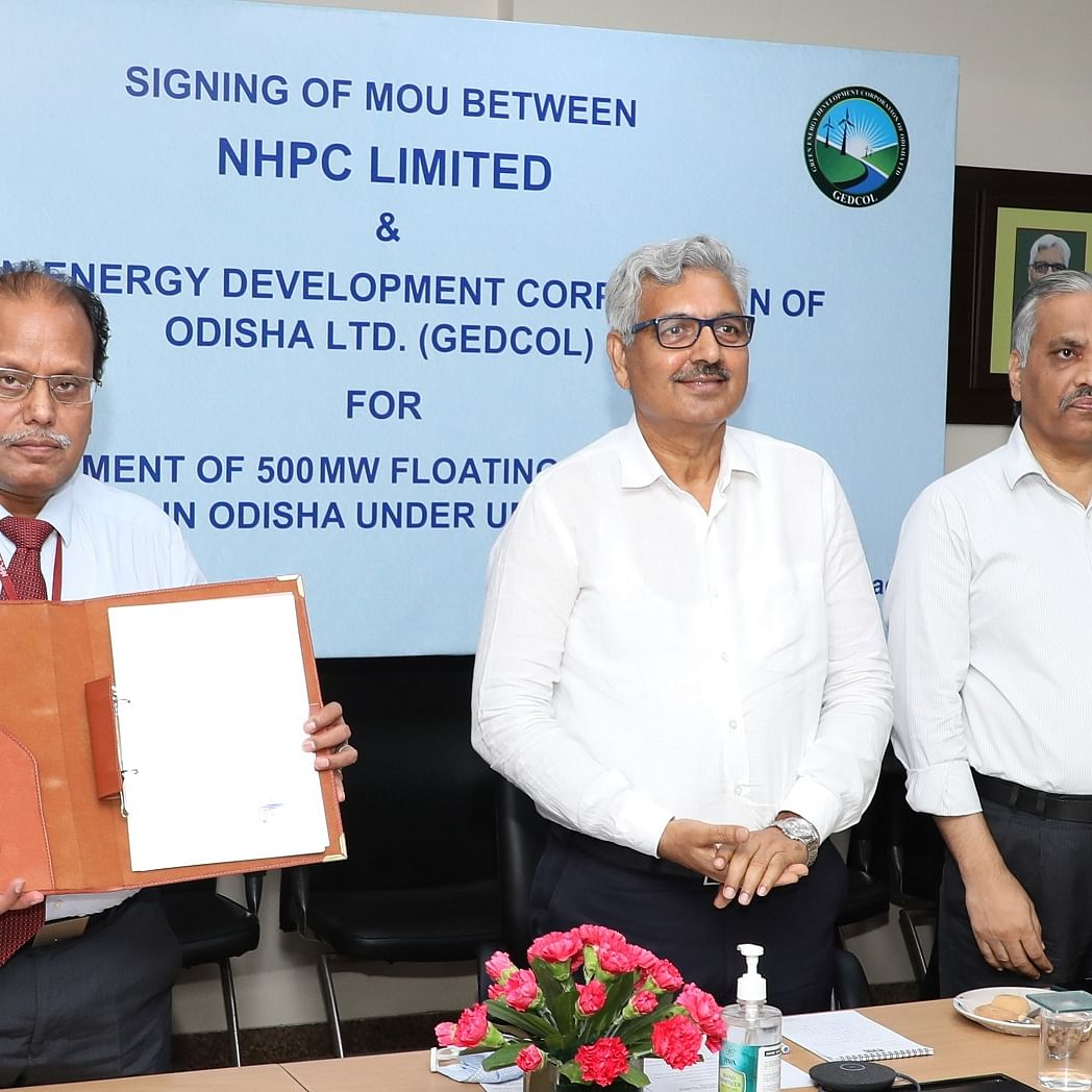 NHPC, GEDCOL sign MoU to develop floating solar power projects in Odisha