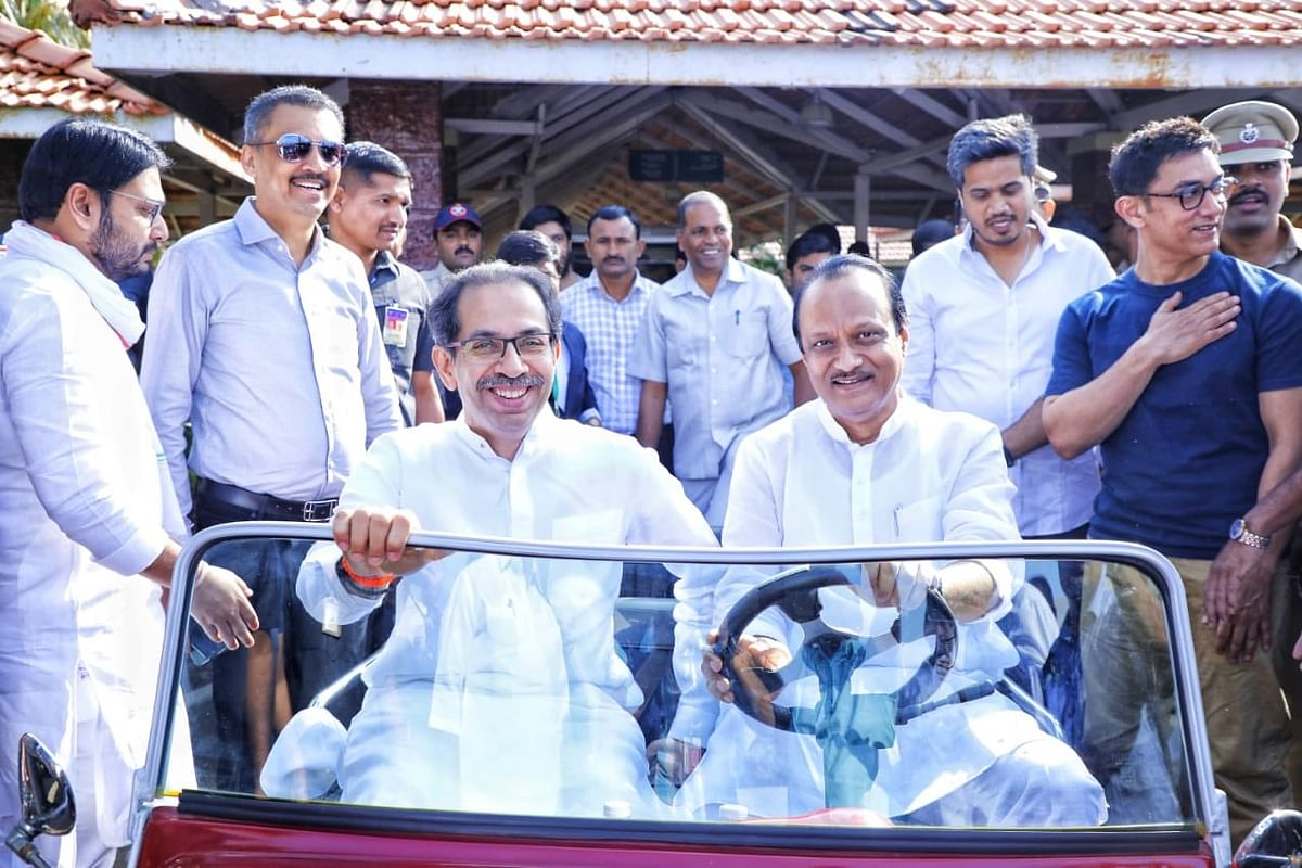 Uddhav at the wheel? Ajit Pawar puts interesting birthday picture for Maha CM