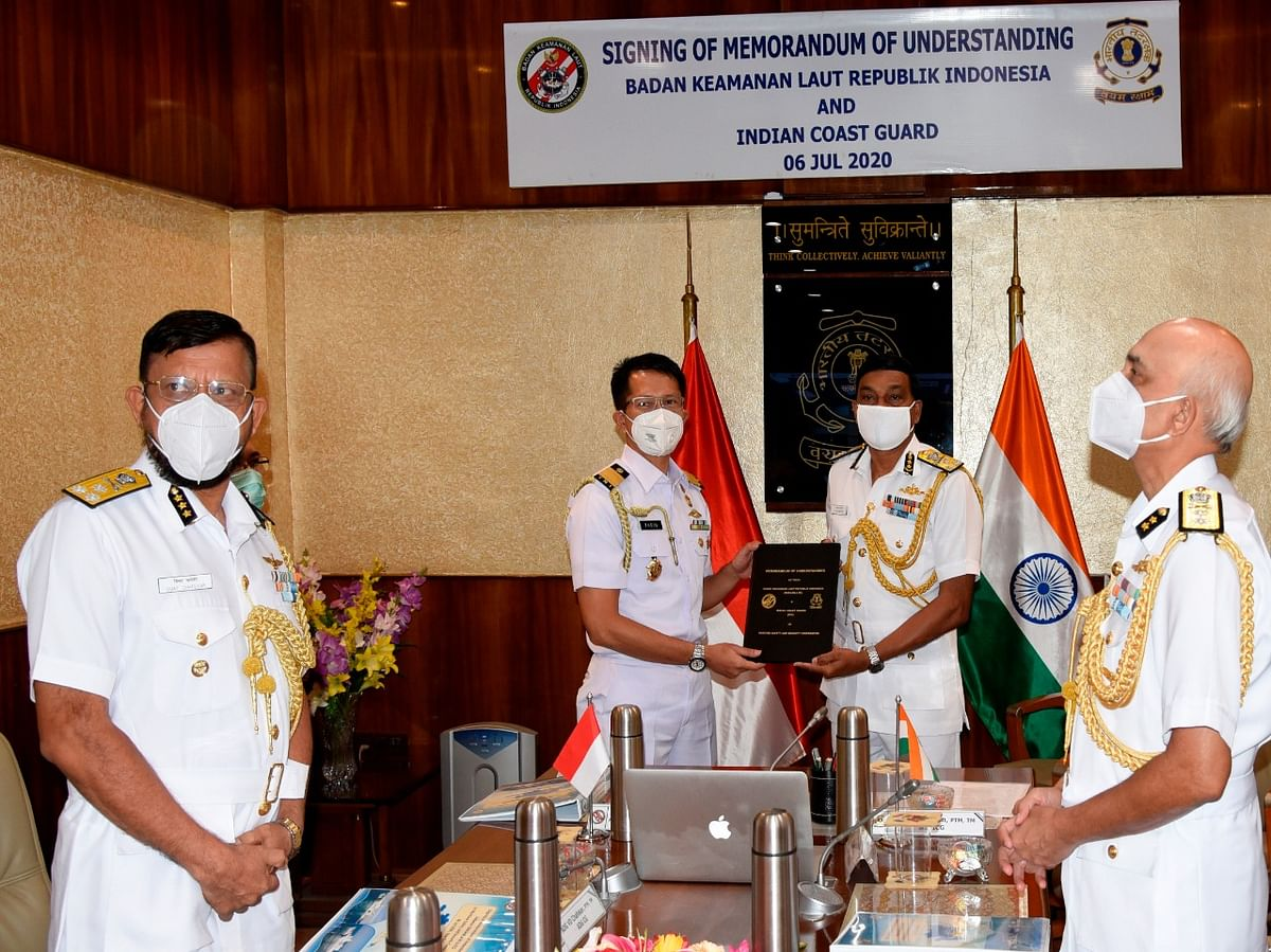 Indian Coast Guard signs MoU with Indonesia Coast Guard