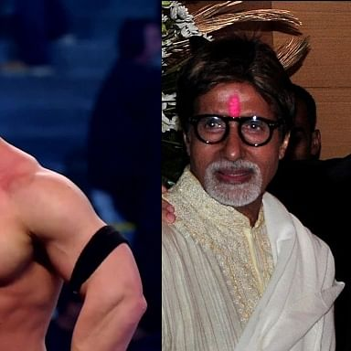 John Cena posts picture of Amitabh, Abhishek Bachchan, netizens ask 'are you really not from India?'