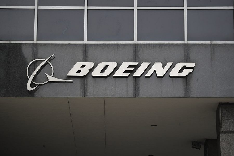 Photo taken on March 13, 2019 shows the Boeing logo at its headquarters in downtown Chicago, the United States. (Xinhua/Joel Lerner)