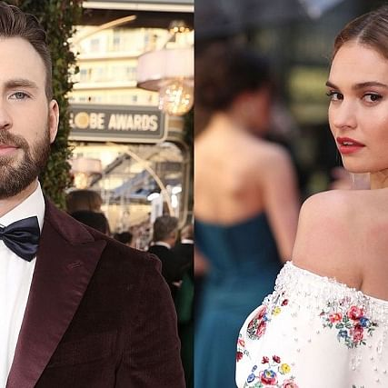 Something brewing? Chris Evans, Lily James enjoy night out in London