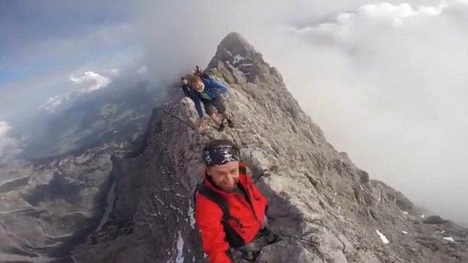 Terrifying video of mountaineers scrambling over Germany's Watzmann is making the internet feel 'nauseous'