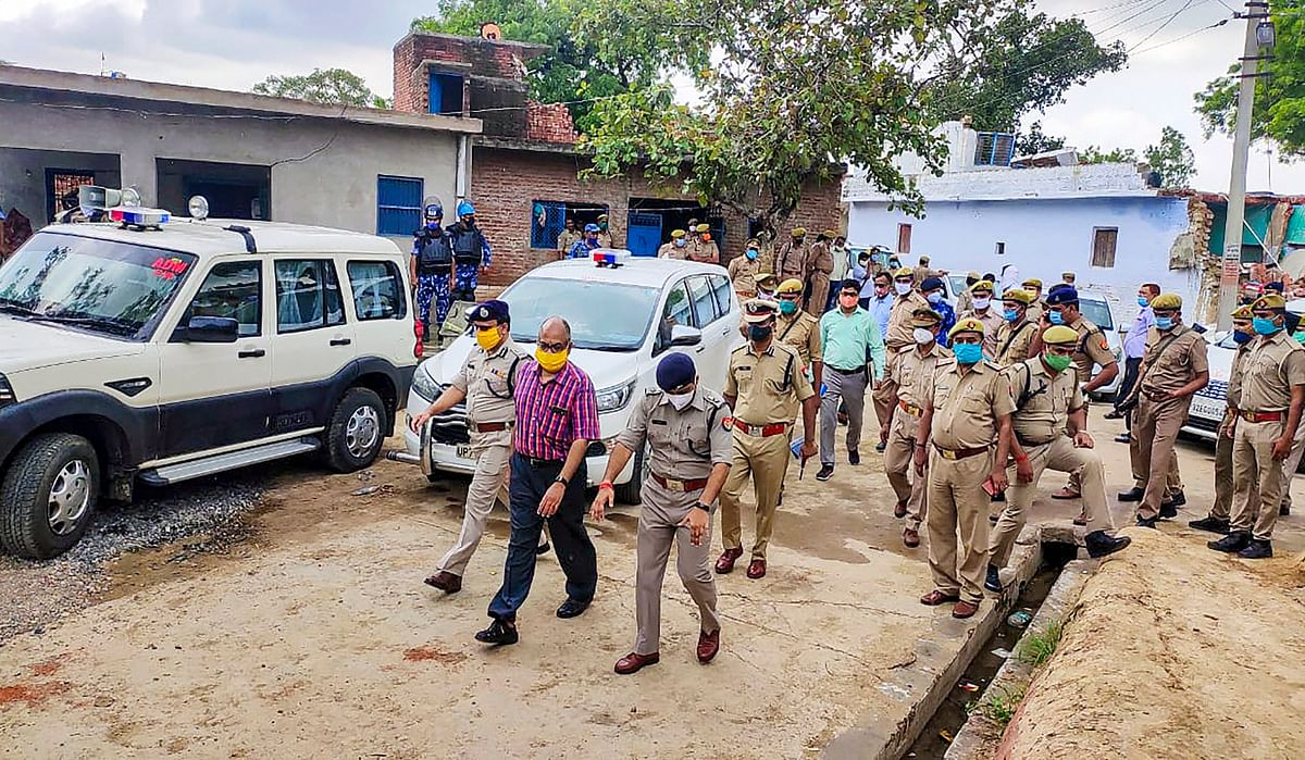 A Special Investigation Team visited the Bikru village for investigation into the Vikas Dubey case
