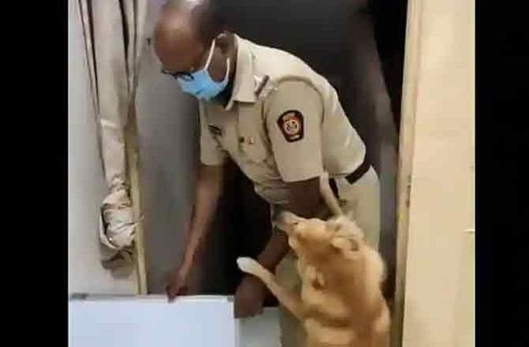 Video of Mumbai cop getting warm welcome from his pet dog goes viral, netizens laud their bond