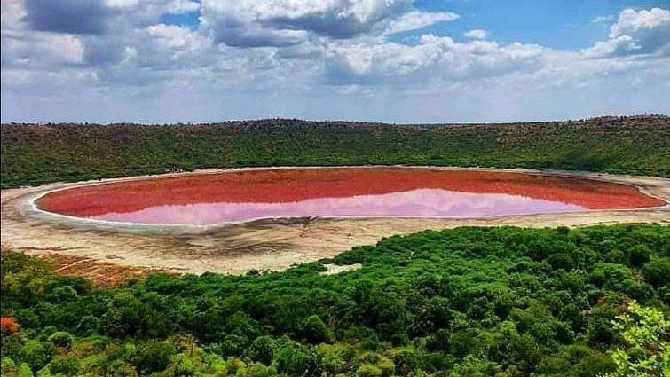 Here's why Maharashtra's Lonar lake turned pink; Pune based Agharkar Research Institute has answers for you