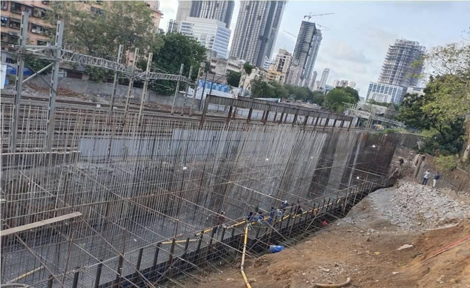 WR completes raft foundation work on the west side of Delisle Road over bridge at Lower Parel