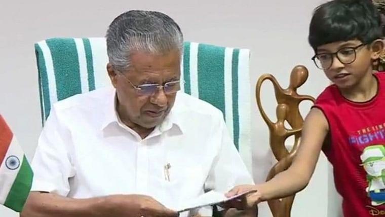 Kerala CM Pinarayi Vijayan's grandson interrupts his press conference while working from home