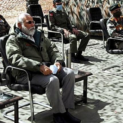 Sending China a message: Check out  best pics of PM Modi's surprise visit to Ladakh's Nimu