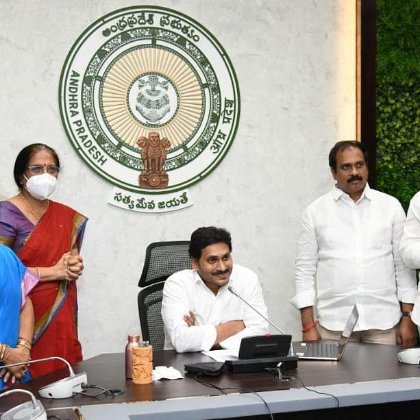 Andhra Pradesh CM Y S Jagan Mohan Reddy lays foundation stone for 125-foot Ambedkar statue in Vijayawada