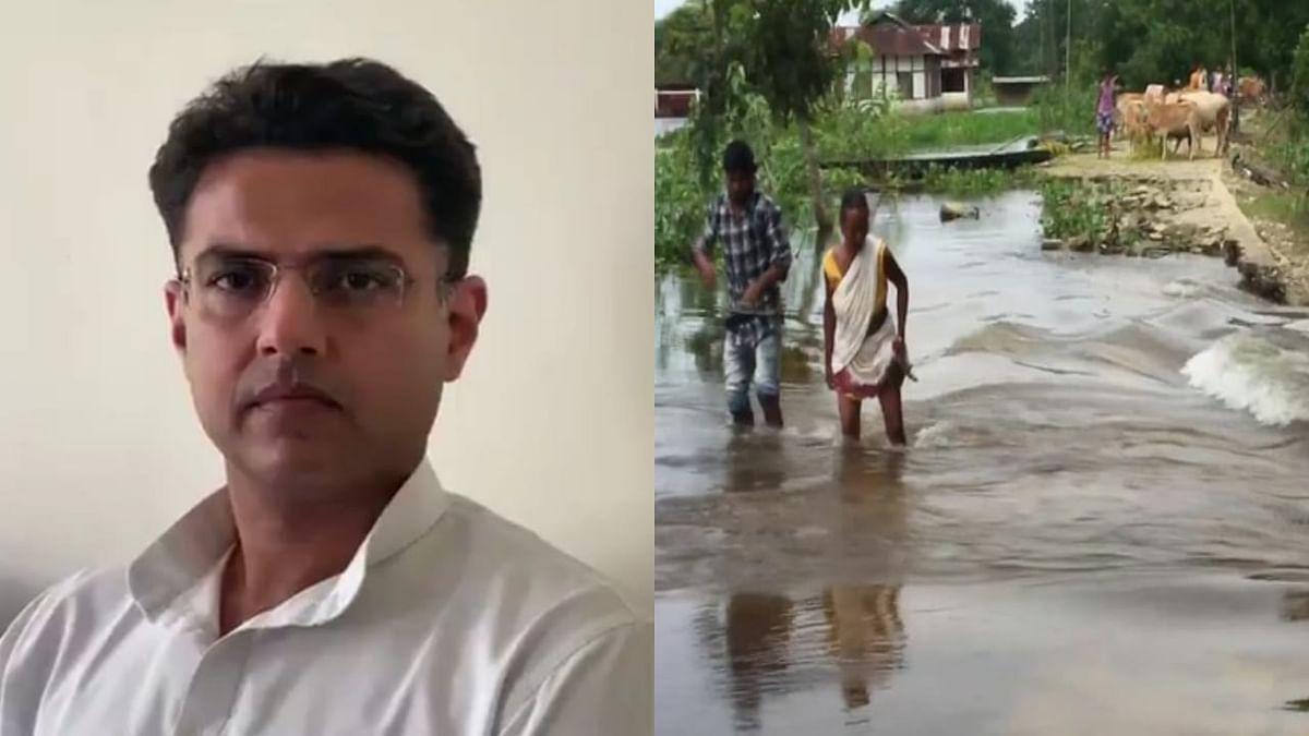 Sachin Pilot appeals all Indians to help families affected by Assam, Bihar floods