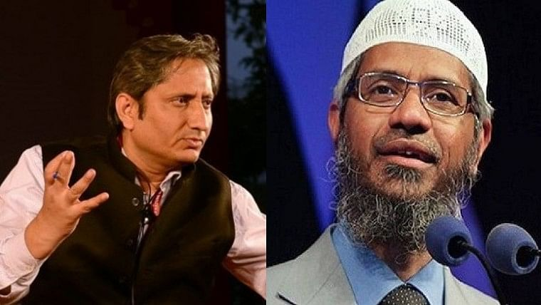 Ravish Kumar and Zakir Naik
