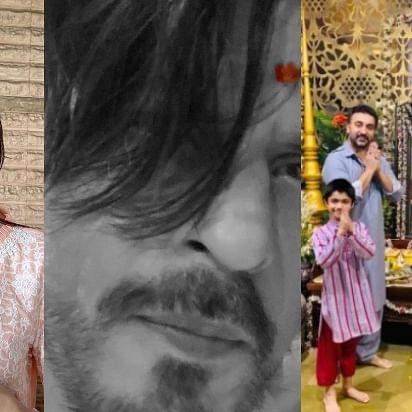 Ganpati Visarjan: Shah Rukh Khan, Shraddha Kapoor and Shilpa Shetty bid adieu to Bappa