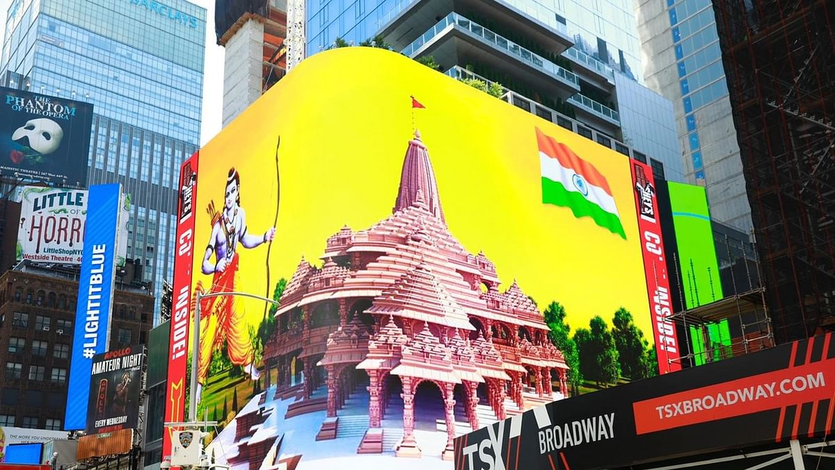 Ram Naam at Times Square: Here's how Ayodhya arrived in NYC
