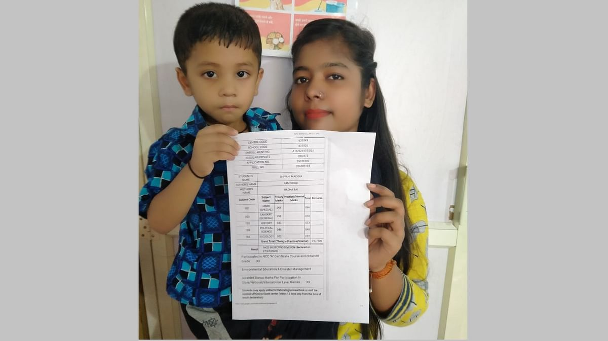 Resident of Nirbhaya Shelter home Shivani Malviya, who aspires to become a police officer, gets 57% marks in class 12 exam, despite all odds.