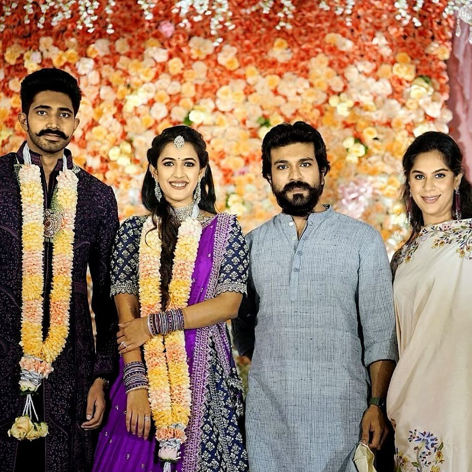 In Pics: Ram Charan, Allu Arjun and others attend Niharika Konidela's lavish engagement