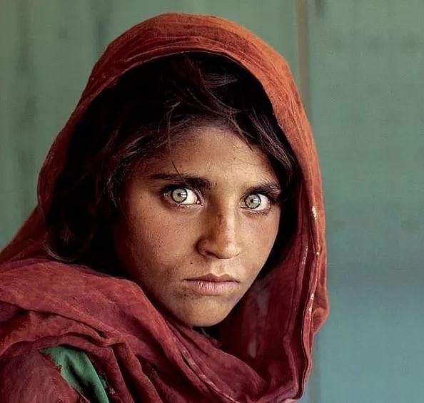 Afghan Girl in a refugee camp.