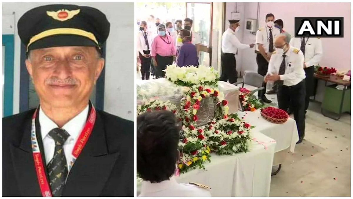 Calicut plane crash: Mortal remains of late Captain DV Sathe brought to Air India building in Mumbai