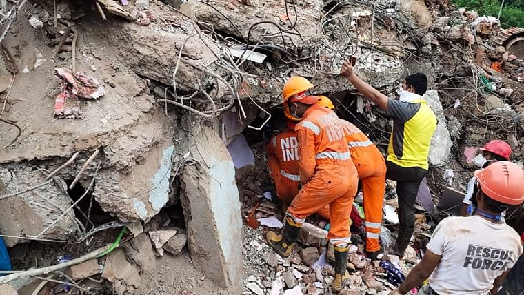 Raigad building collapse: Two dead, 18 still feared trapped, says district collector